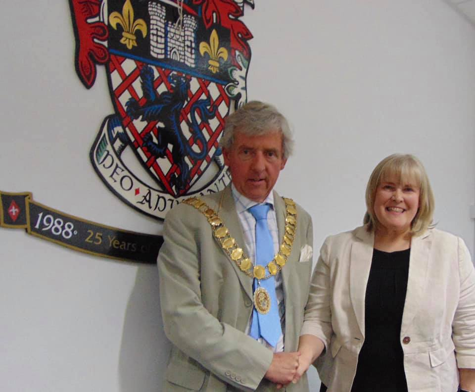 Pictured: Town Mayor; Cllr Anthony Lowe